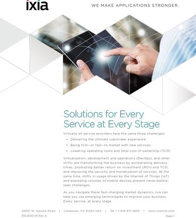 Service Providers - coping with IoT, CORD and CI/CD? Here's our solutions brochure