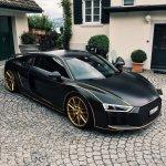 Audi R8 Spyder Matte Black And Orange Supercars Gallery