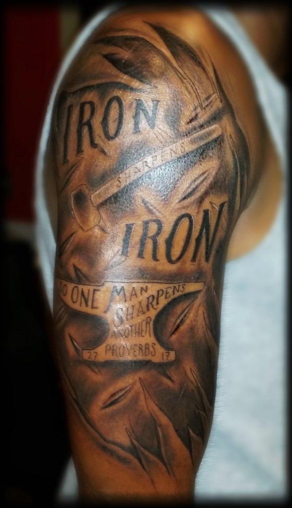 Iron Sharpens Iron Tattoo : sharpens, tattoo, Littleelmtattoos, Twitter, Search