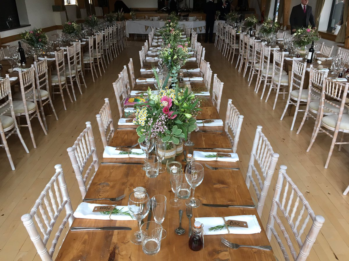 limewash chiavari chairs wedding chair covers rental montreal elite furniture hire on twitter rock village hall for a fantastic yesterday we installed rustic tables and fairy lights