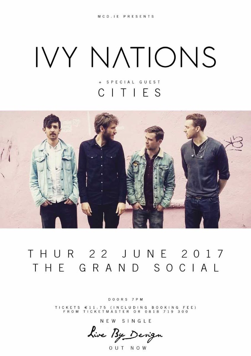 .@IvyNations plus very special guests Cities play @TGSDublin. Last few tickets are on sale now from @TicketmasterIre https://t.co/UnXSwosDr1