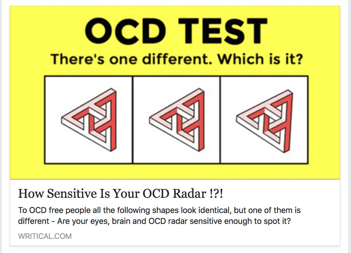 Andy Ryan On Twitter The Person Who Wrote This Seems To Think Ocd Is An Observational Super