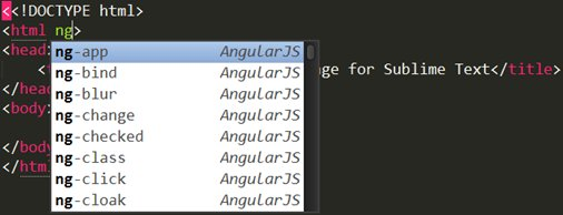 Sublime Text with AngularJS Package could be good editor for AngularJs development.