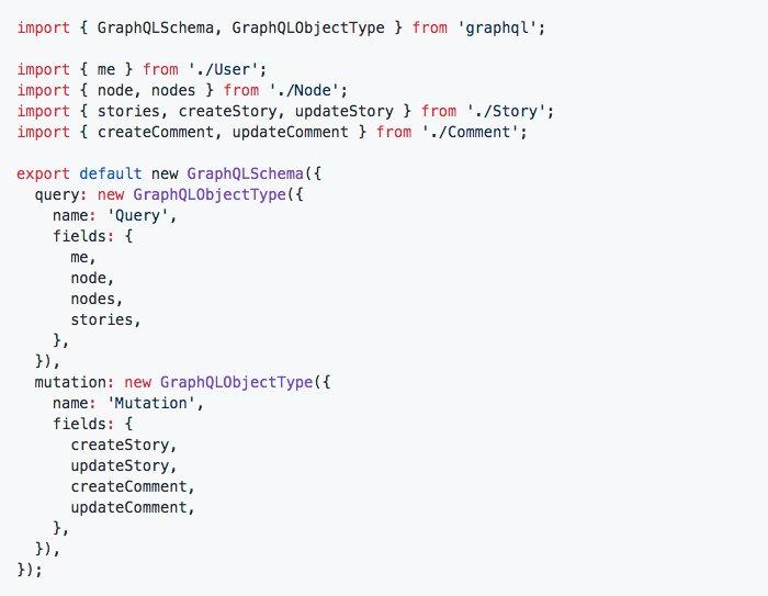 How to organize a @GraphQL schema (example)  #graphql #relayjs #reactjs #nodejs