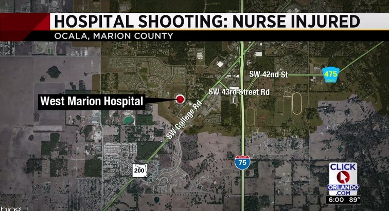 Reports: Nurse shot in Ocala hospital in stable condition