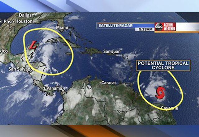 2 tropical disturbances have chance to develop. #flwx #GMTB #florida #tropics