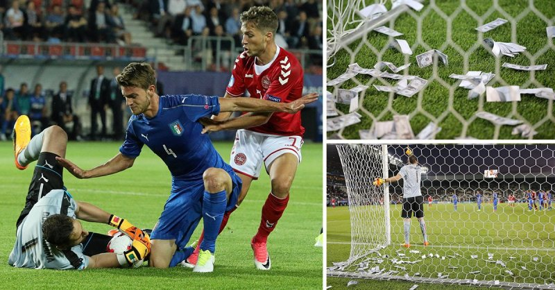 Gianluigi Donnarumma Has Wads Of Fake Money Thrown At Him By Angry Milan Fans During Last