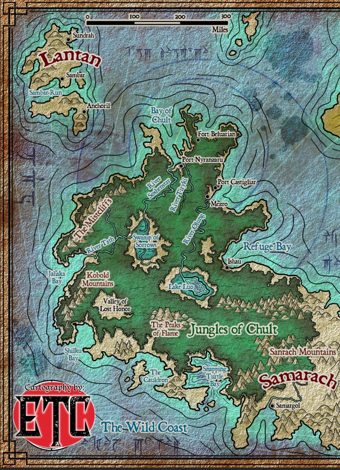 Chult Map : chult, Elven, Tower, Adventures, Twitter:,