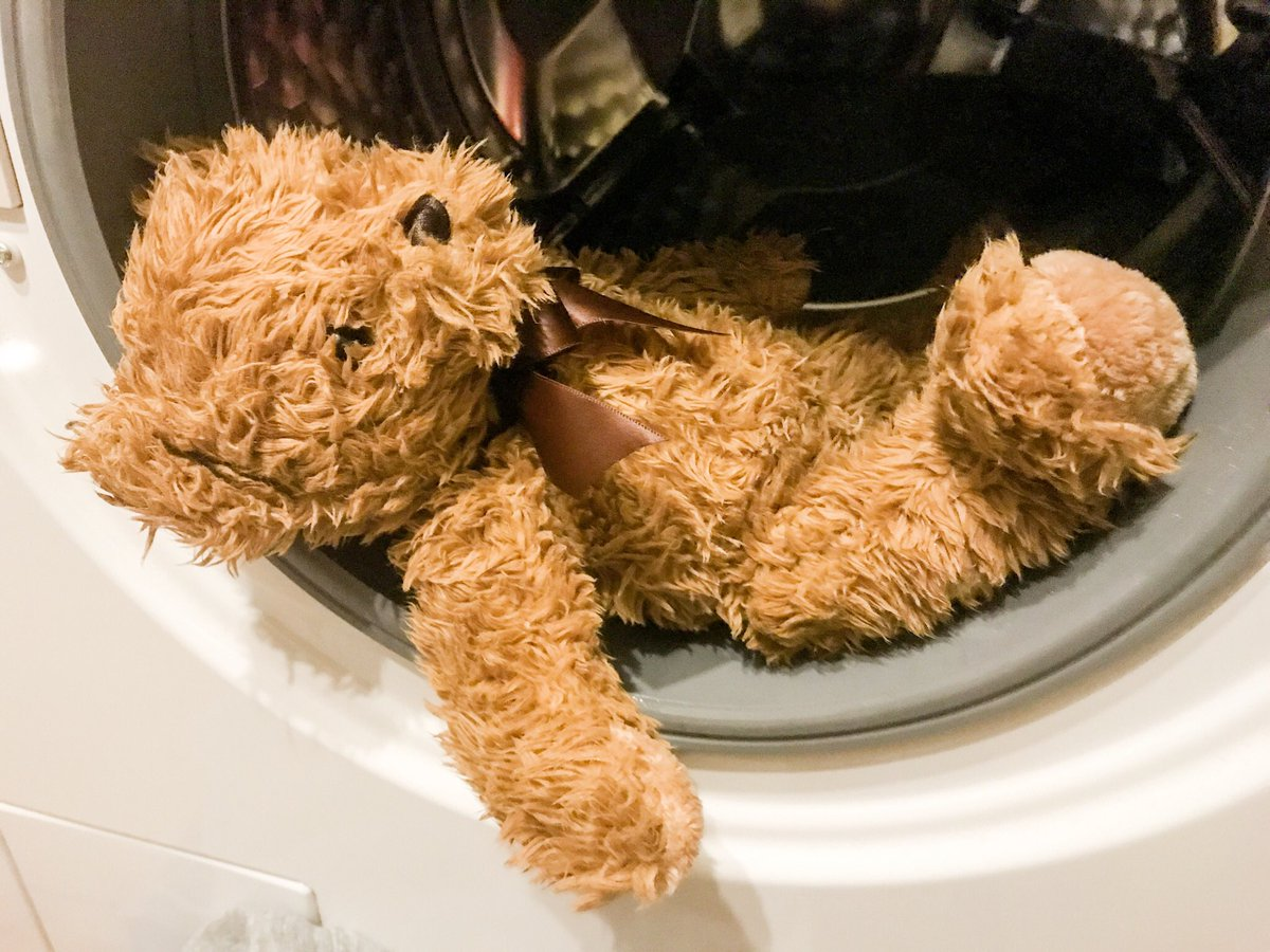 For now and ever more he shall be know as WeeWee bear. Luckily he survived the machine.