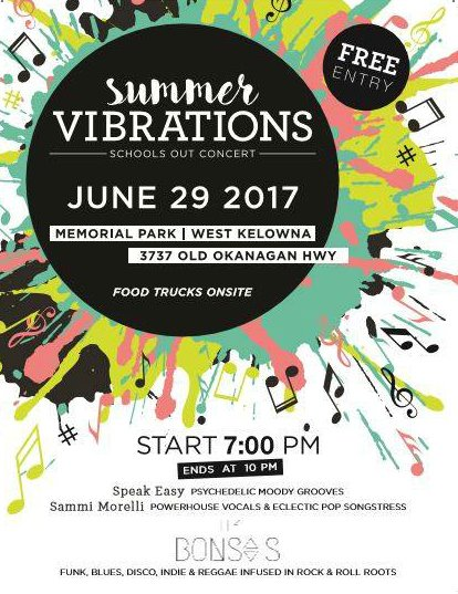test Twitter Media - School's out & there's an outdoor concert coming up! June 29th at Memorial Park | 7pm. #WestKelowna #Okanagan https://t.co/swJz11hXTJ