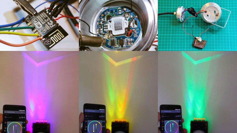 RGB Flood Light with #ESP8266 🔧   #IoT #Hack #LED