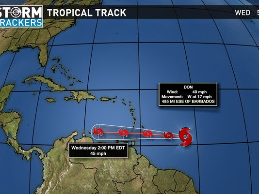 Tropical Storm Don forms in the Atlantic Ocean