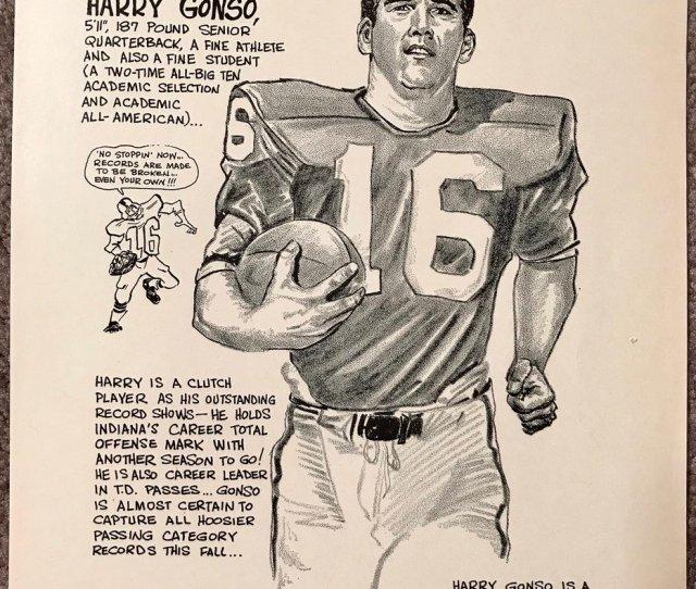 Iu Artifacts On Twitter  Harry Gonzo Senior Year Cartoon Gonzo Was Qb For Ius Big Ten Championship And Rose Bowl Season