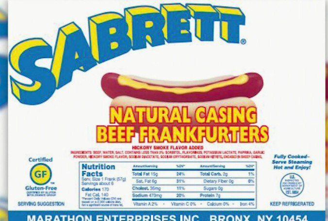 Sabrett included in recall of 7.2 million pounds of hot dog products