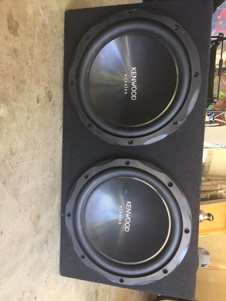 medium resolution of jake baranowski on twitter got 2 12 kenwood subs for sale with a kenwood 1000w amp all you need is wires hmu if you re interested