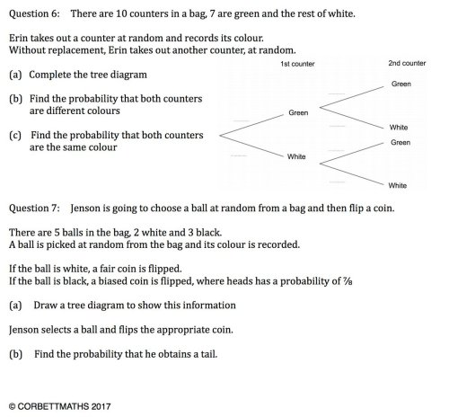 small resolution of corbettmaths on twitter new textbook exercise tree diagrams https t co 5ay485ctuk