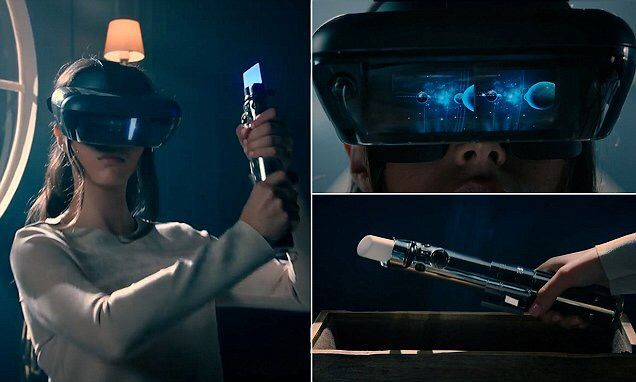 #Disney's #AR headset will let you test your skills with a lightsaber  #StarWars