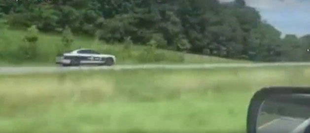 Caught on camera: Trooper driving the wrong way