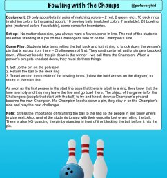 if you liked champions challengers here is the bowling rendition of that game bowling w the champs physed espechat iahperd enjoy  [ 900 x 1200 Pixel ]