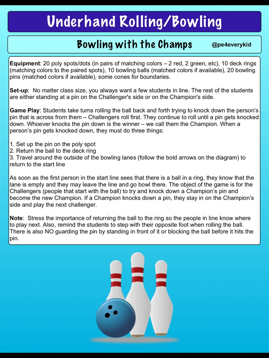 medium resolution of if you liked champions challengers here is the bowling rendition of that game bowling w the champs physed espechat iahperd enjoy