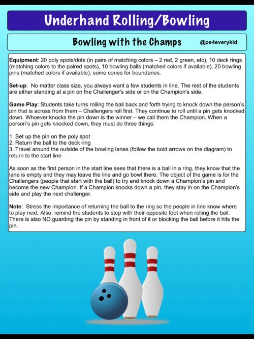 small resolution of if you liked champions challengers here is the bowling rendition of that game bowling w the champs physed espechat iahperd enjoy