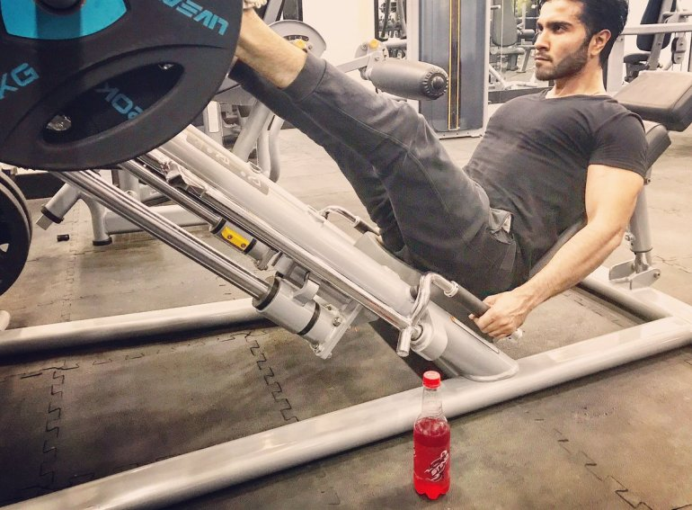 Image result for feroze khan  in gym