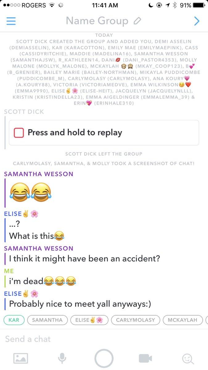 Snapchat Group Chat Names : snapchat, group, names, Stephanie, Johnson, Twitter:,
