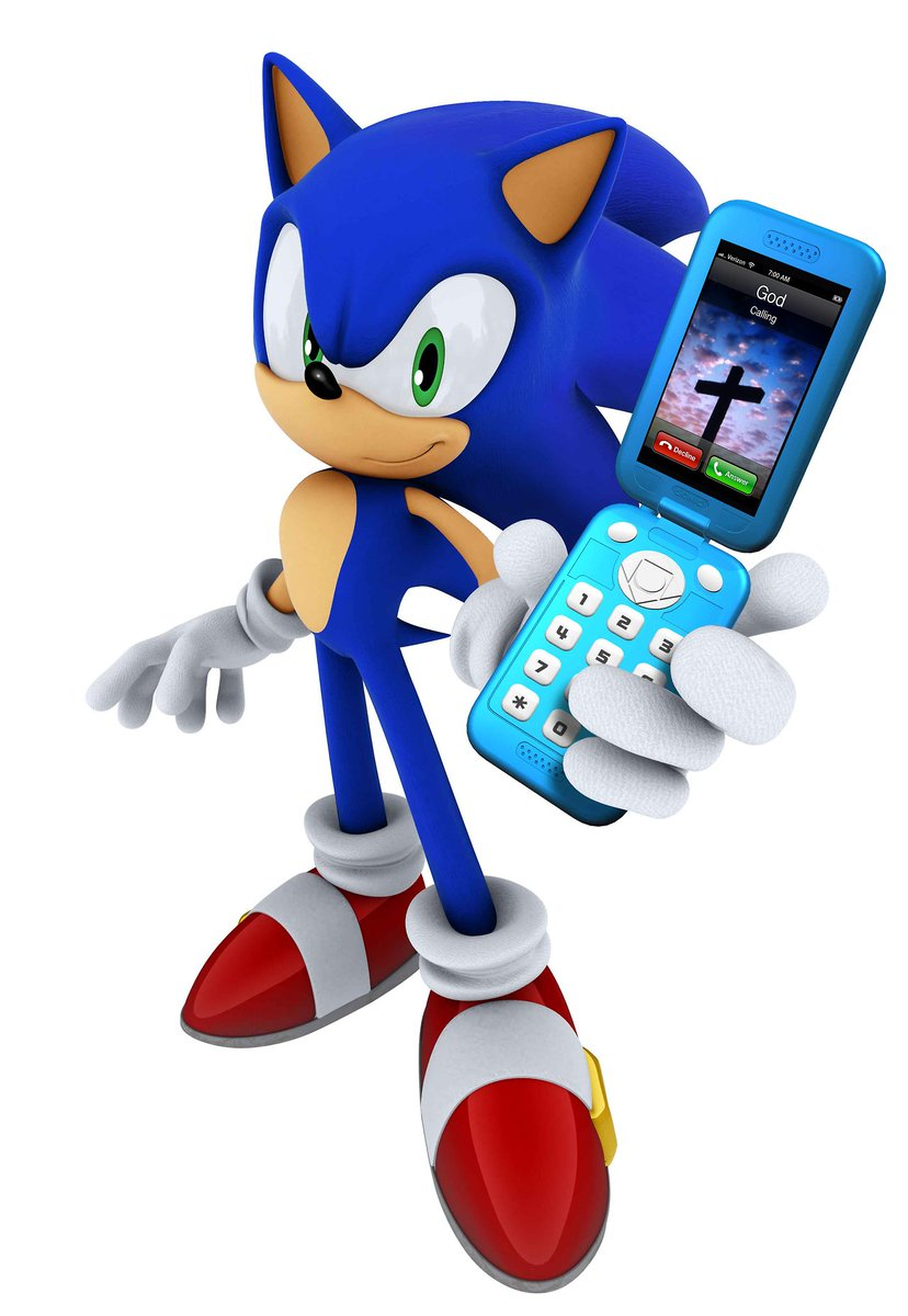 Phone Call From God : phone, Brian, Feldman, Twitter:, Would, Someone, Intercept, Sonic., Makes, Sense…