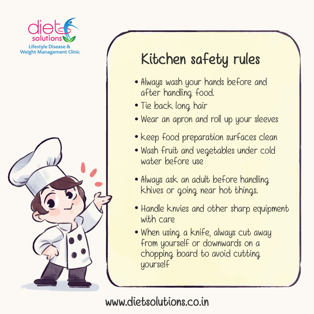 T Solutions On Twitter Kitchen Safety Rules You Need