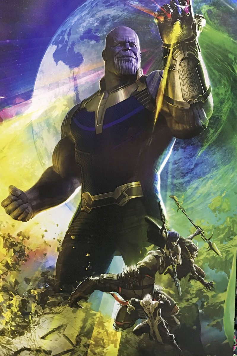 Avengers: Infinity War Poster Featuring Thanos & Black Order