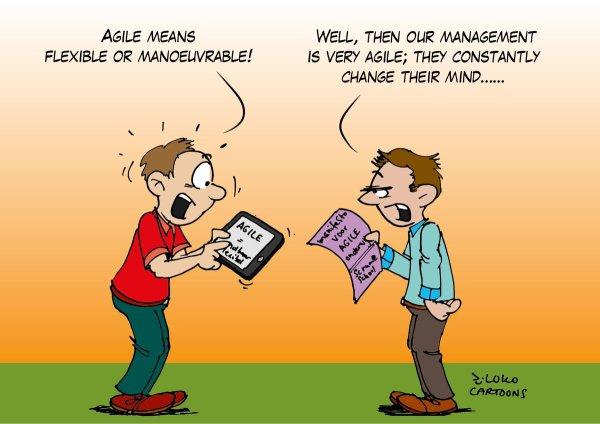 "Loko Cartoons Twitter ""#agile #management ;- #"