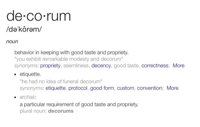Decorum Synonym 1 Fireplace Mantle Meaning