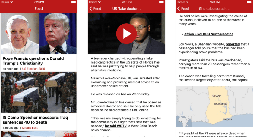 7/ BBC News app clone  Fw: React Native  Source code:  🔥🔥🔥  #OpenSource #ProjectLearn