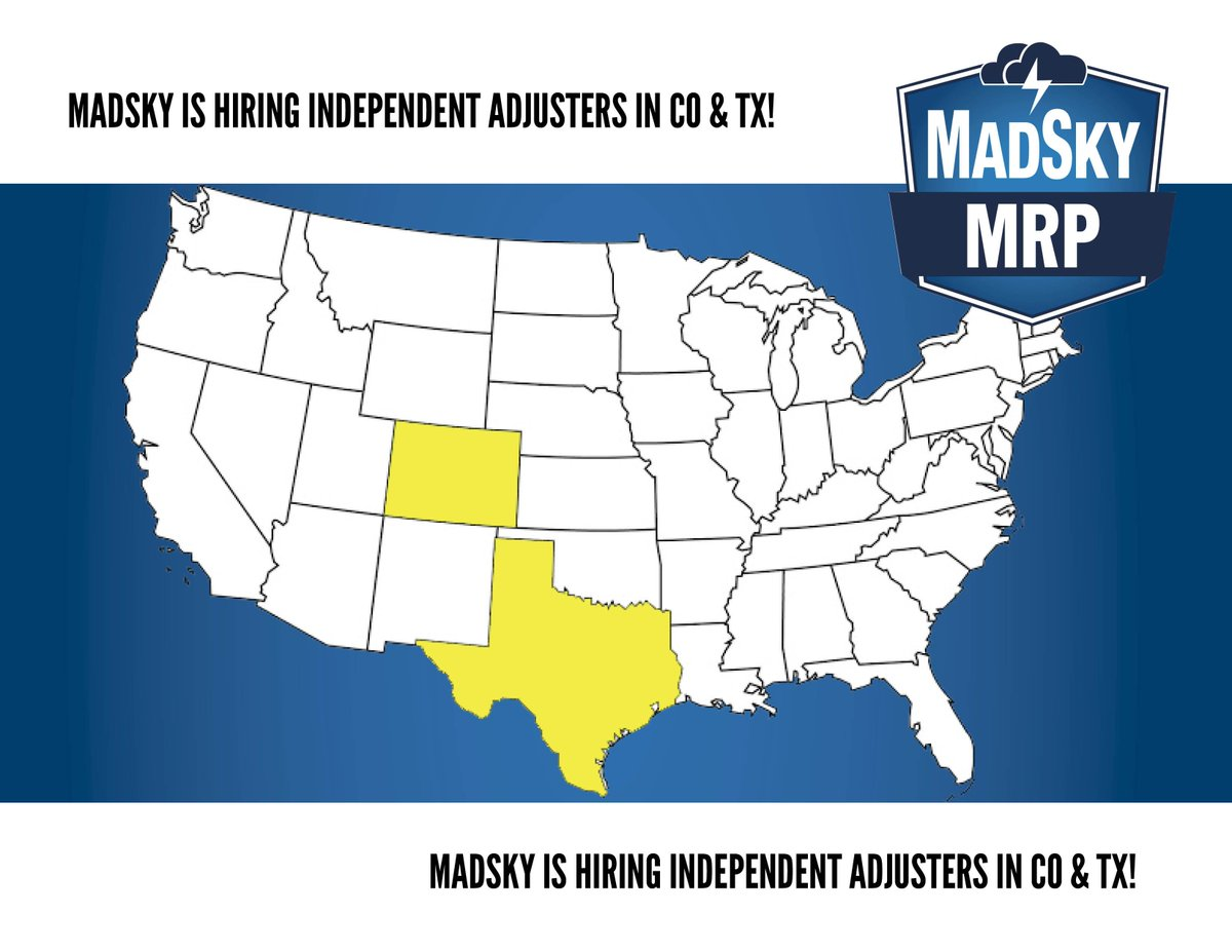 hight resolution of madsky mrp on twitter madsky is looking for independent adjusters in colorado and texas apply here https t co h6erxxq5ah jobopenings