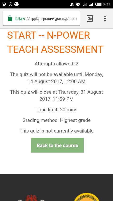 Writing-Npower Teach Assessment Tests