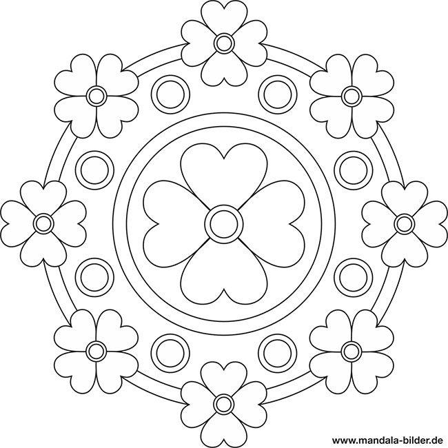 Ausmalbild Mandala Mit Blumen