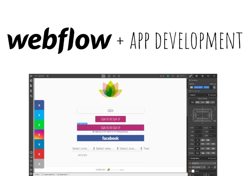 Hey React folks, give a try to designing apps using Webflow:  #ReactJS