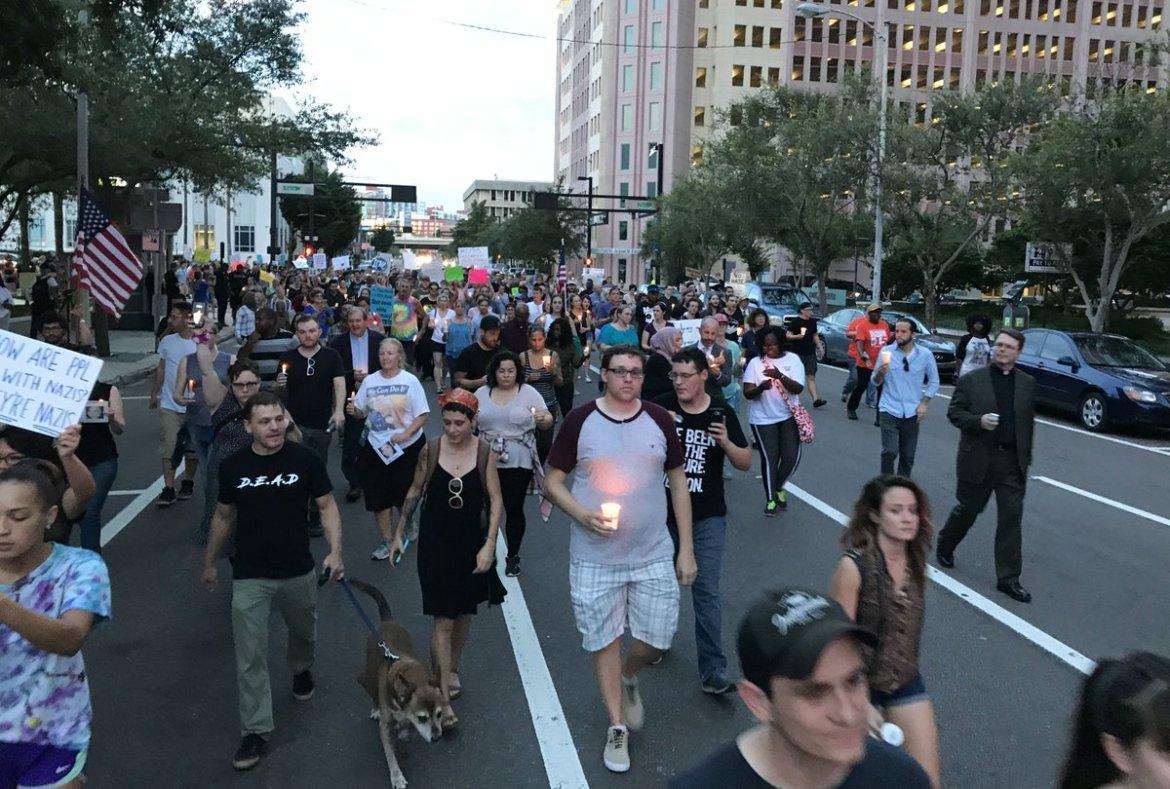 Rally held in Tampa Bay after Charlottesville violence