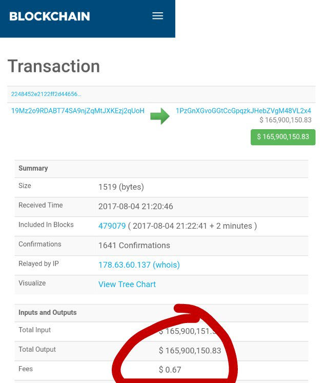 Large Bitcoin Transaction