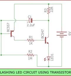 blinkingled is a circuit you can build to flash leds it is built using transistors resistors capacitors leds https goo gl uodatt pic twitter com  [ 1080 x 1011 Pixel ]