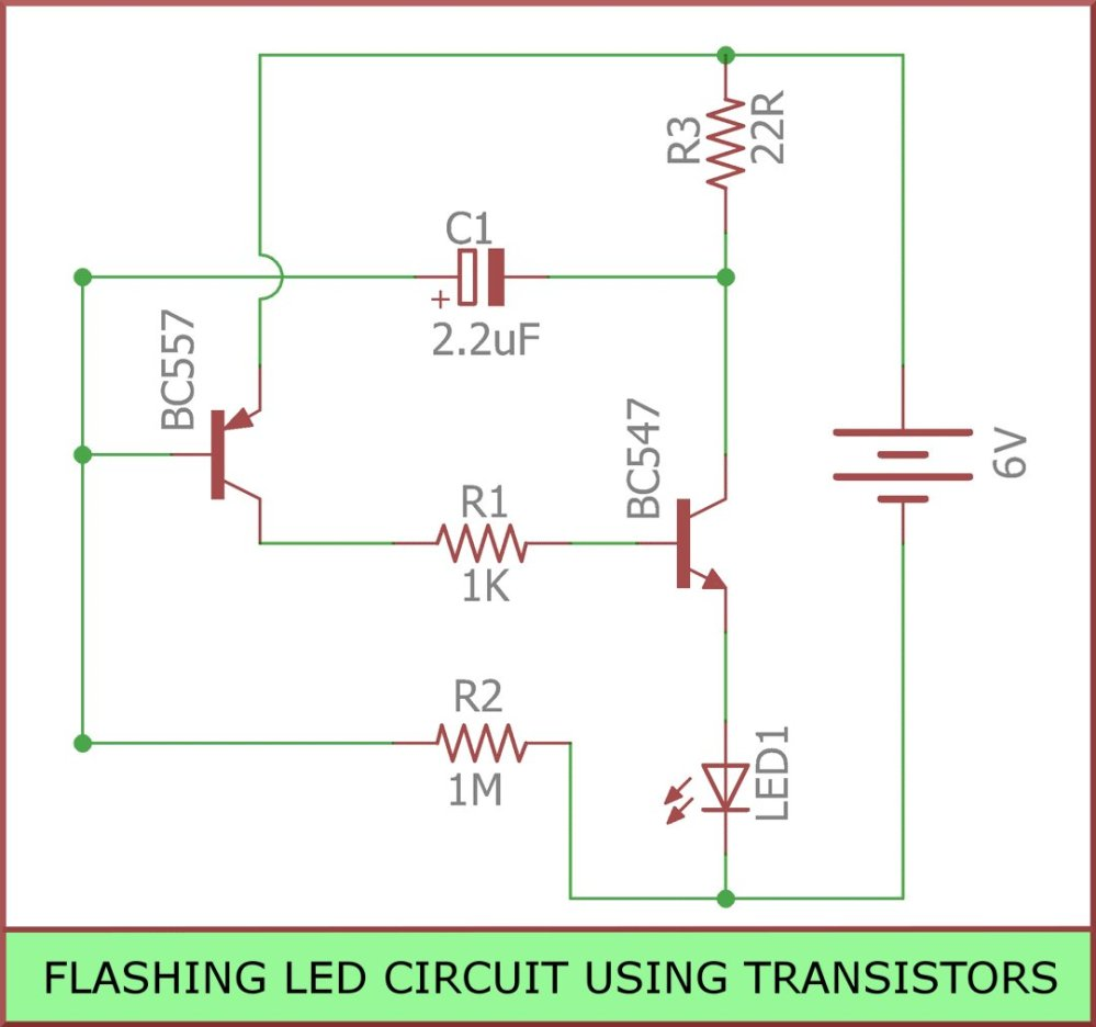 medium resolution of  blinkingled is a circuit you can build to flash leds it is built using transistors resistors capacitors leds https goo gl uodatt pic twitter com