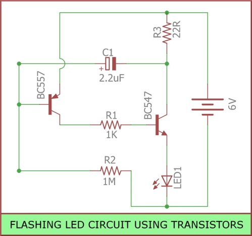 small resolution of  blinkingled is a circuit you can build to flash leds it is built using transistors resistors capacitors leds https goo gl uodatt pic twitter com