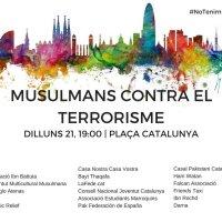 """""""Musulmans contra el terrorisme"""" @volemacollir convoca dilluns 21/08/17 a #PlaçaCatalunya #BCN #NoTenimPor #TotesSomBarcelona"""