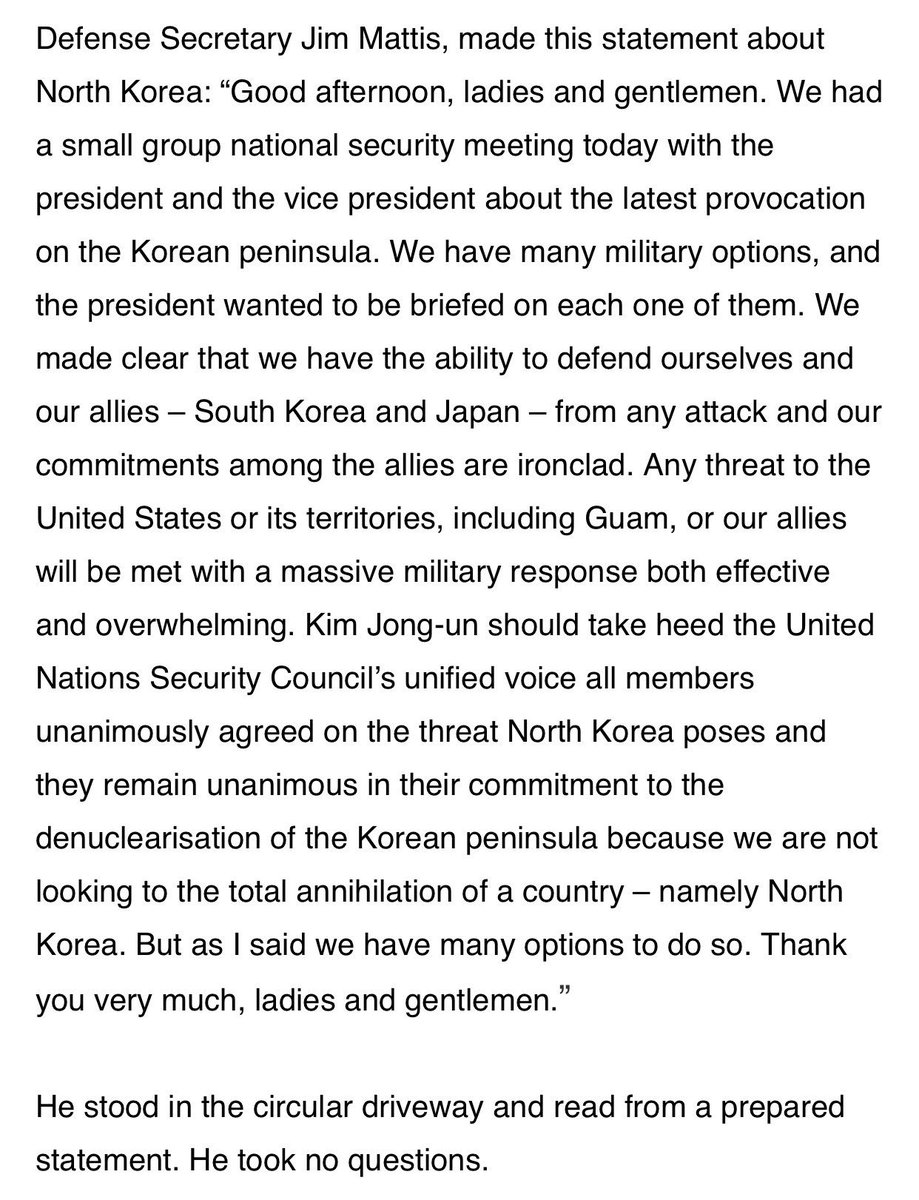 "Steve Herman On Twitter ""Full Statement On #DPRK Of The"