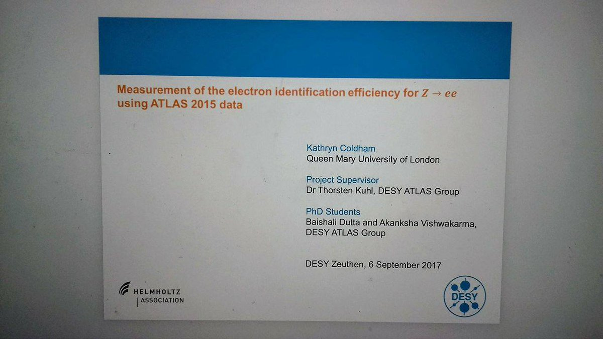 """Kathryn Coldham On Twitter: """"submitted My @desy Summer School Project Report!  Now To Prepare For Tomorrow's Final Presentation #physics #desy #cern…"""