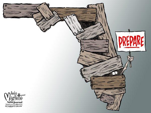 "Andy Marlette Twitter ""#florida Cartoon Hurricane"