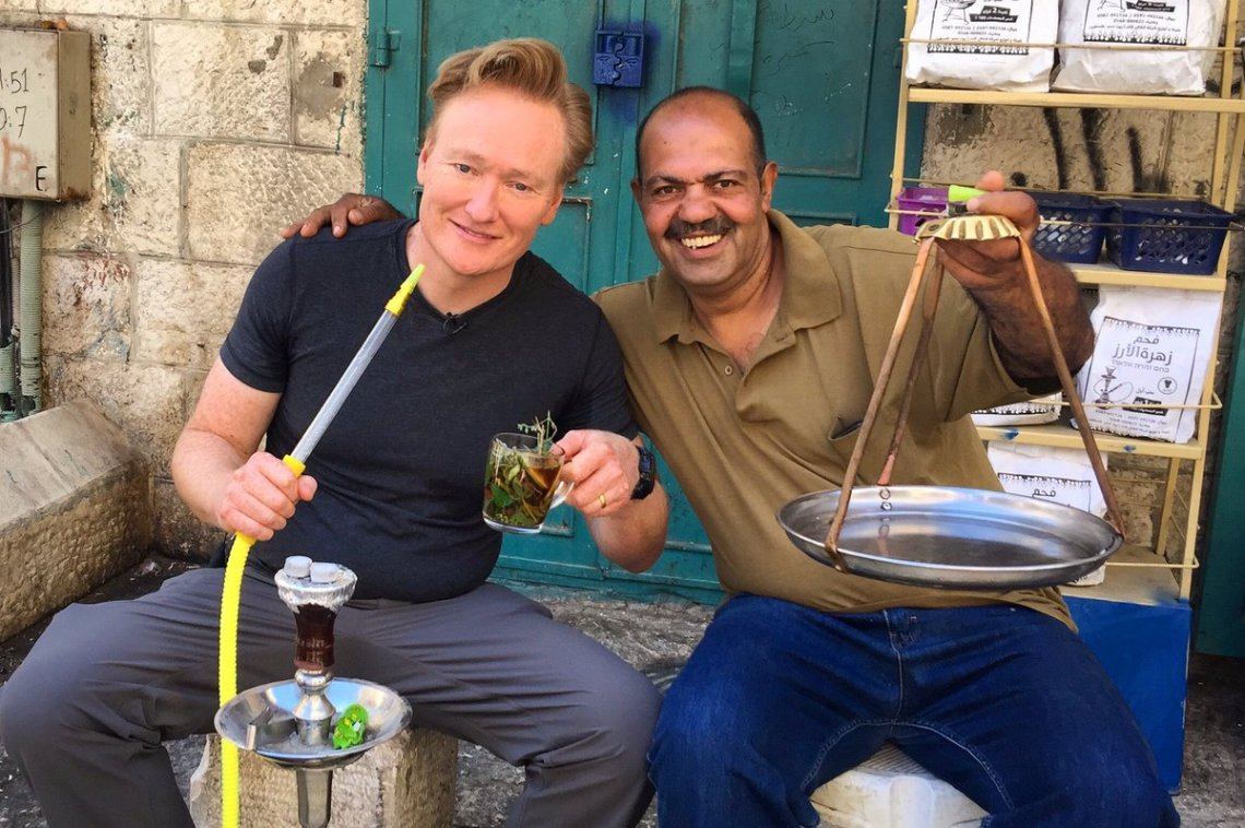 Talk Show Host Conan O'Brien Tweets from Bethlehem, Palestine