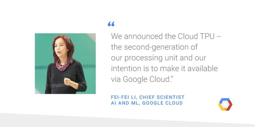 Our aim is to make #ML and #AI accessible to everyone. @drfeifei shares how:
