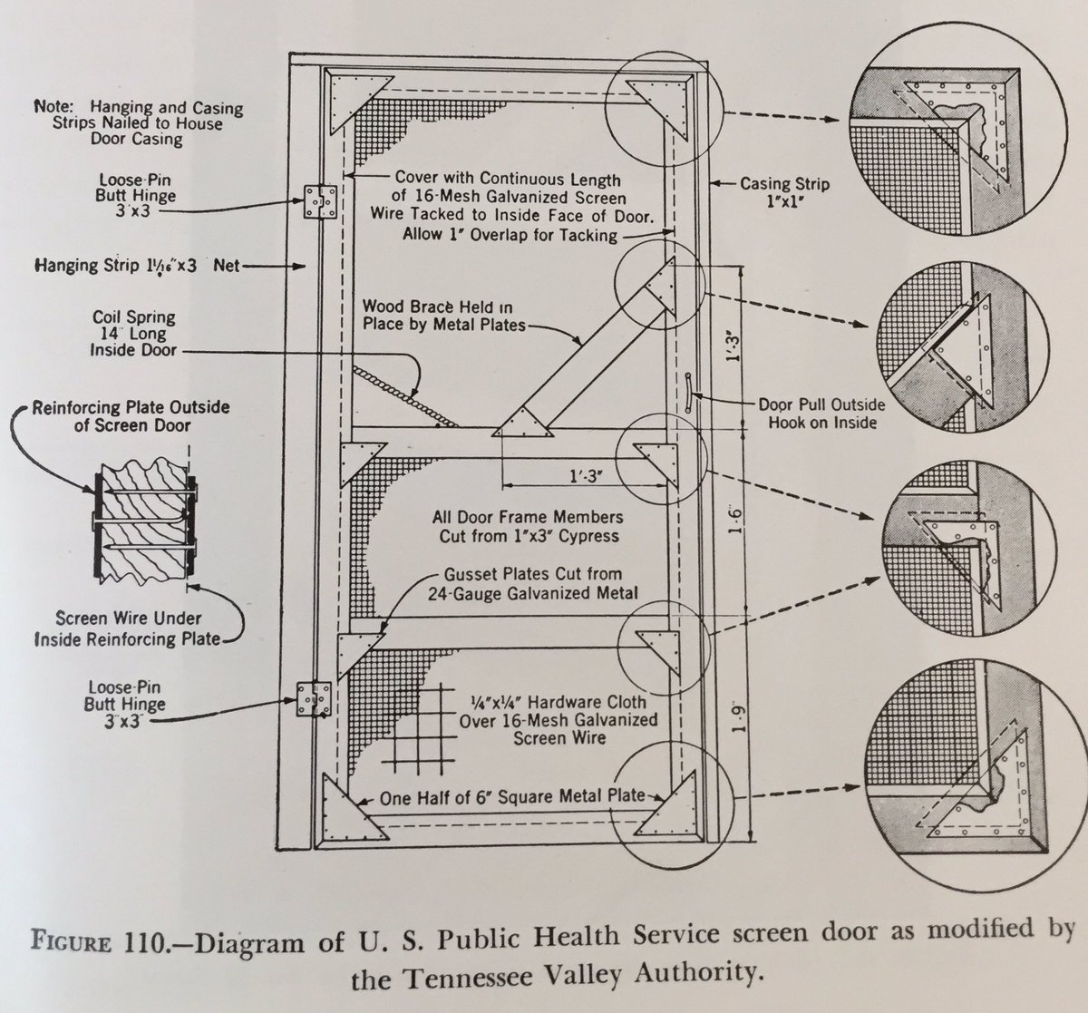 hight resolution of justin m cohen on twitter public health service door designed originally for mosquito proofing houses in mississippi in the 1920s