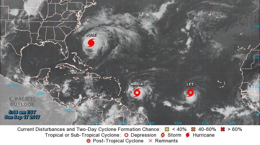 National Hurricane Center: 3 storms churning in Atlantic